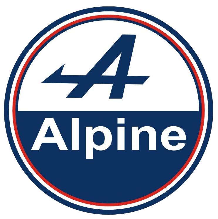 Autocollant alpine rond taille au choix